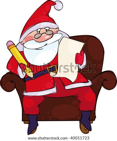 Santa with the list