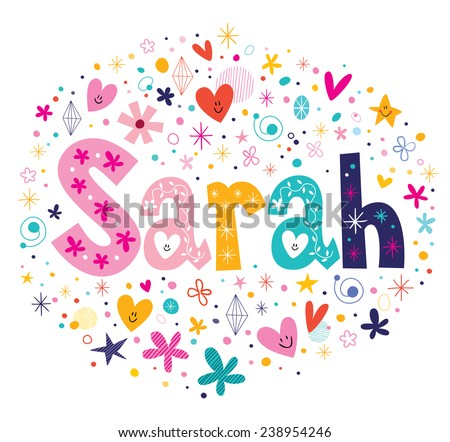 sarah female name decorative