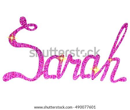 sarah name lettering tinsels