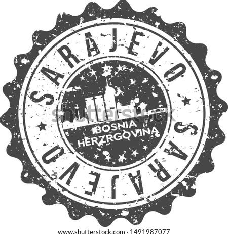 sarajevo bosnia city skyline