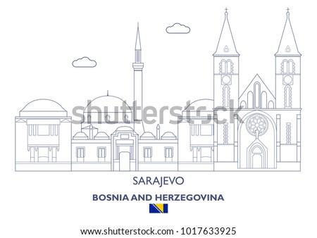 sarajevo linear city skyline