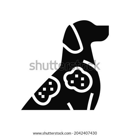 sarcoptic mange glyph icon vector. sarcoptic mange sign. isolated contour symbol black illustration Stock fotó ©