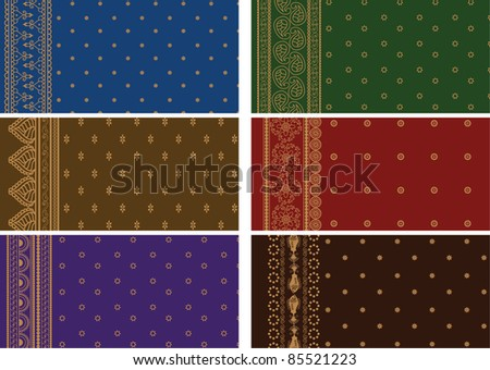 Sari Borders - Very Detailed and easily editable