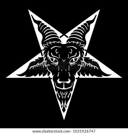 satanic goat head on pentagram