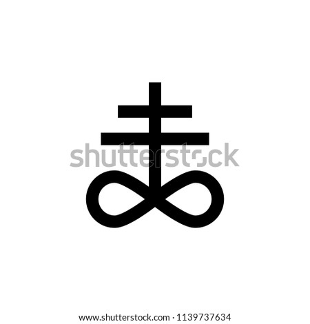 Satanism Leviathan cross sign icon. Element of religion sign icon for mobile concept and web apps. Detailed Satanism Leviathan cross icon can be used for web and mobile on white background