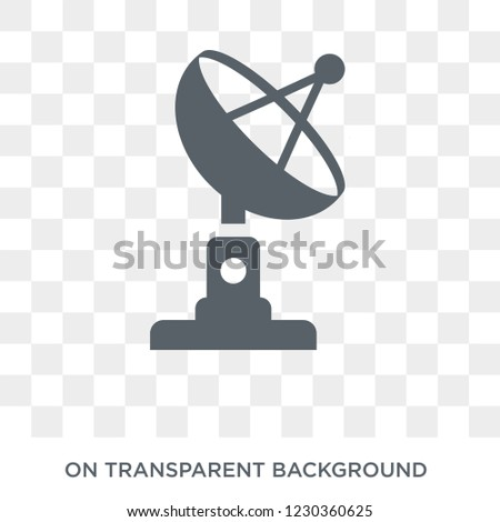 satellite antenna icon. Trendy flat vector satellite antenna icon on transparent background from General collection.