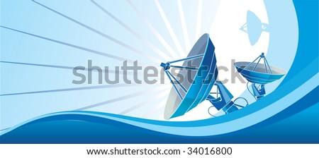 Satellite dish_blue