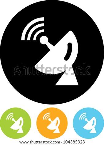 Satellite dish - Vector icon isolated
