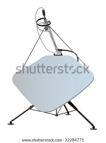 satellite dish. Vector illustration.