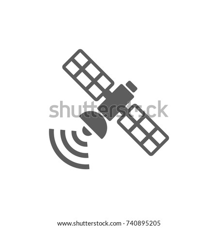 Satellite icon in trendy flat style isolated on white background. Symbol for your web site design, logo, app, UI. Vector illustration, EPS