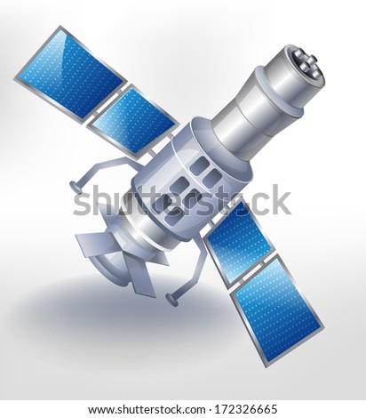 satellite icon isolated on white