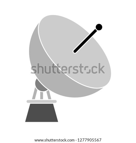 satellite icon - satellite dish isolated, wireless internet satellite illustration - satellite technology Vector
