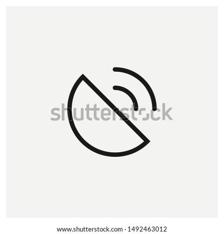 satellite icon vector sign illustration