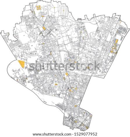 satellite map of milan  streets