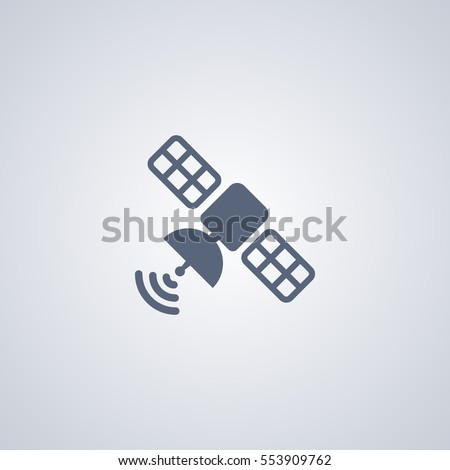 Satellite vector icon, broadcasting vector icon