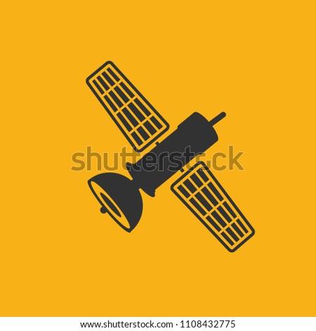 Satellite vector icon design