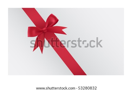 Satin ribbon tied in a bow. Vector illustration.