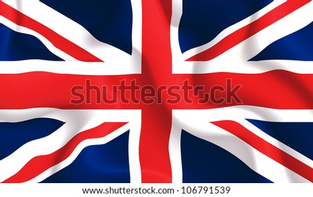 Satin UK waving flag, eps10 vector illustration