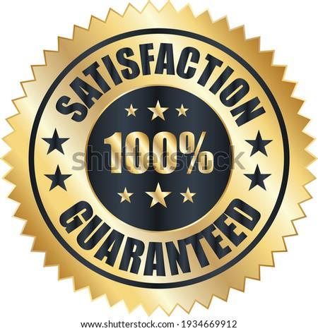 Satisfaction Guarantee badge, trust badge, satisfaction badges