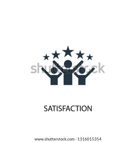 satisfaction icon. Simple element illustration. satisfaction concept symbol design. Can be used for web and mobile.