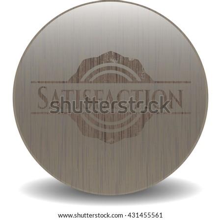 Satisfaction realistic wood emblem