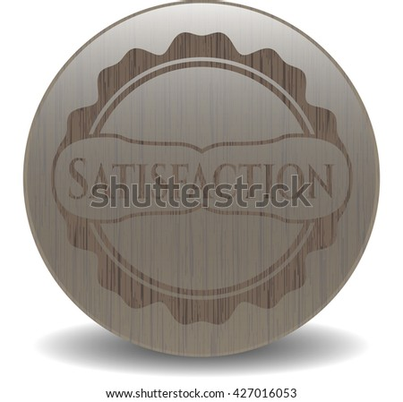 Satisfaction retro wooden emblem