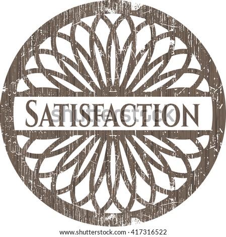 Satisfaction wooden signboards