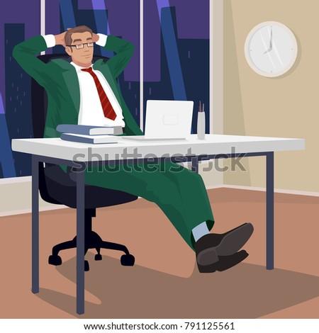satisfied businessman or