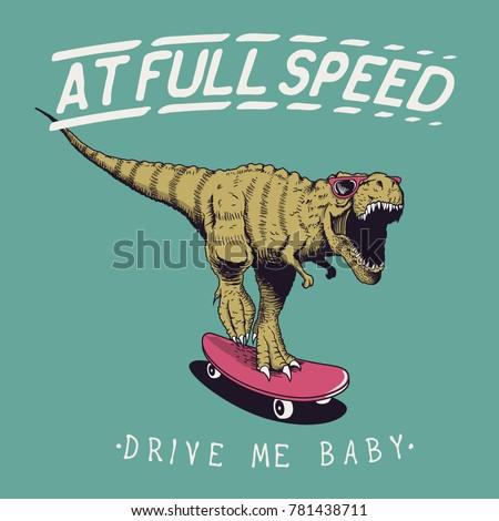 satisfied tyrannosaur rex rides