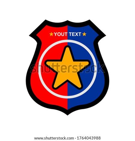 satr badge logo vector design Stok fotoğraf ©