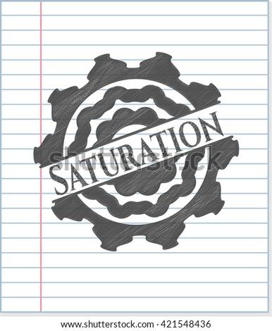 Saturation draw (pencil strokes)