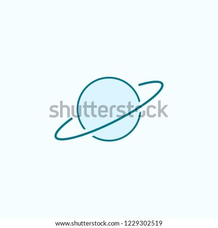 saturn 2 colored line icon