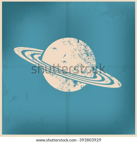 saturn design on old background ...