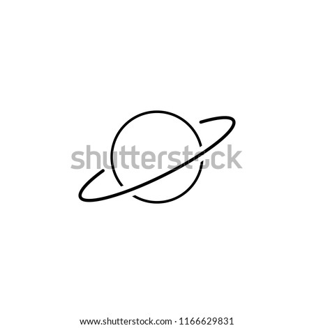 saturn icon. Element of scientifics study icon for mobile concept and web apps. Thin line saturn icon can be used for web and mobile on white background