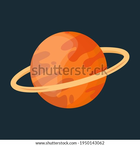 Saturn planet icon. Saturn planet of Solar system vector icon. Saturn vector illustration. Astronomy Object icon