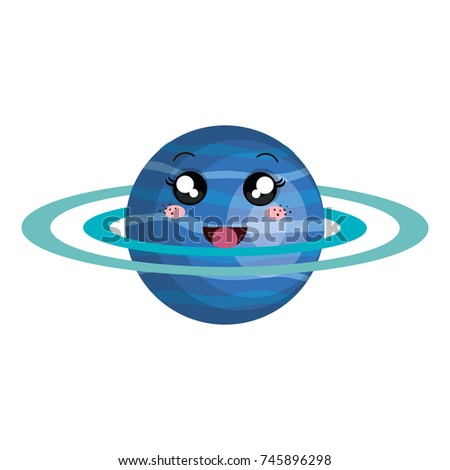 saturn planet kawaii character