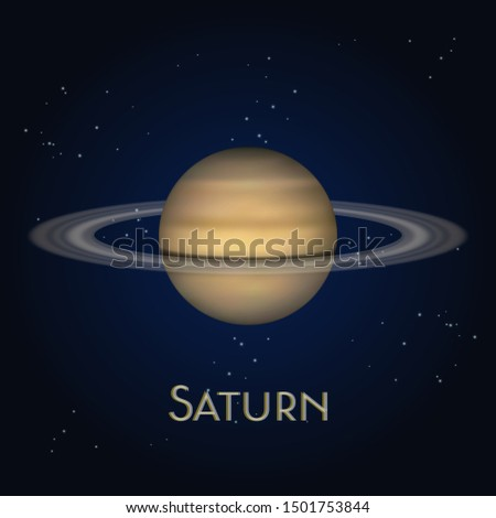 saturn planet with ring system