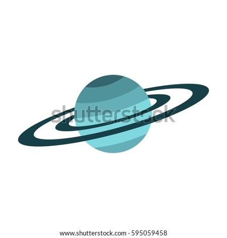 Saturn ring icon. Flat illustration of Saturn ring vector icon logo isolated on white background