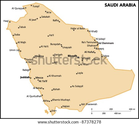 Saudi Arabia Country Map