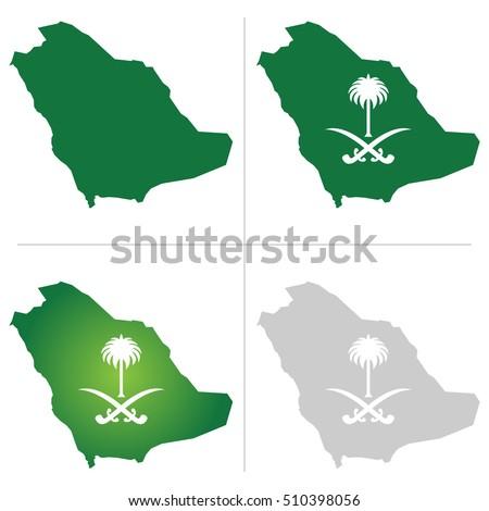 saudi arabia map and national