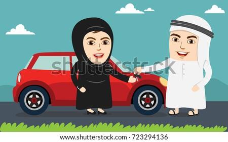 saudi woman or girl being happy