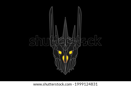 sauron helmet   lord of the