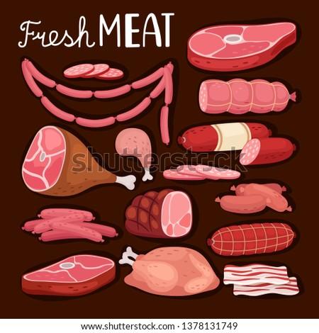 sausages illustration fresh