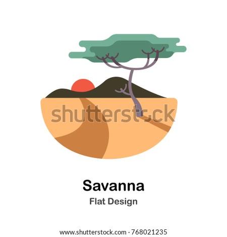 Savanna Flat vector Illustration