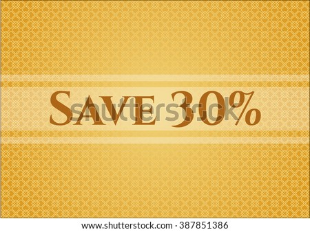 Save 30% card or banner