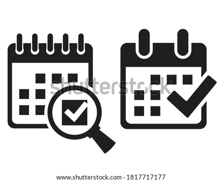 Save date in calendar vector icons set on white background Сток-фото ©