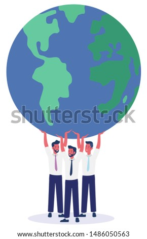 Save environment. sustainable environment concept. Vector illustration
