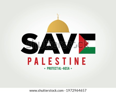 Save Gaza, save Palestine. Save Palestine lettering background. Save Palestine concept vector illustration Сток-фото ©