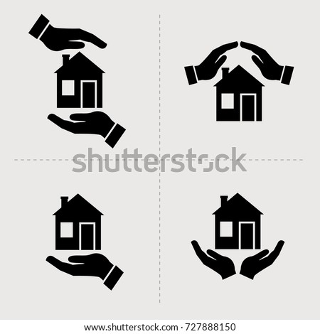 stock-vector-save-house-icons-houses-in-hands-vector-black-icon-set-home-repair-and-maintenance-insurance-and