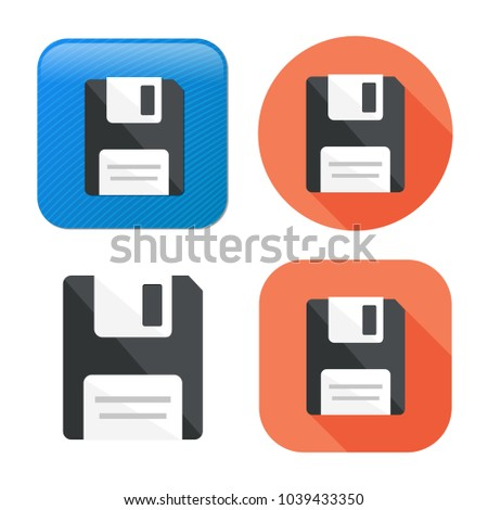 save icon - computer symbol - memory storage - information disc